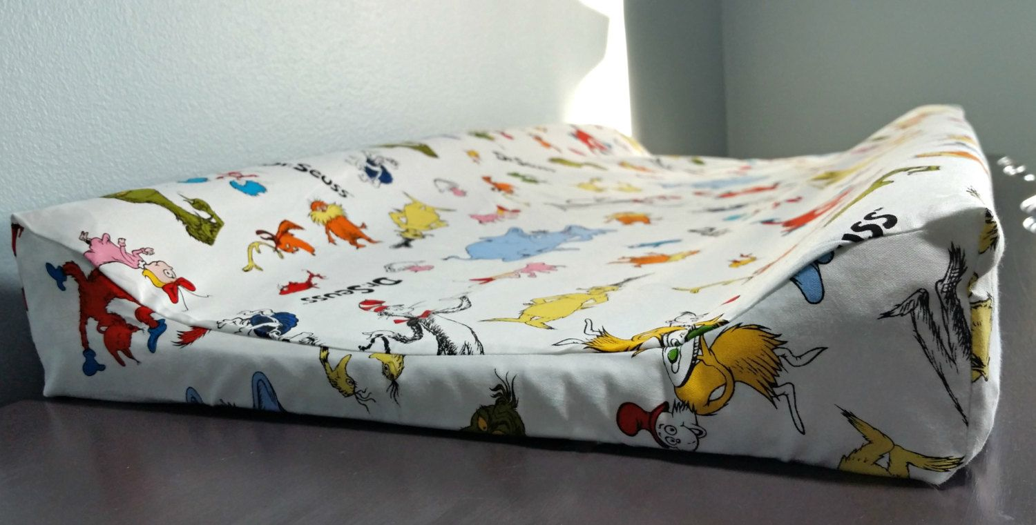 Dr Seuss Changing Pad Cover Baby Cat In Hat Nursery Bedding By Hynestbyulove