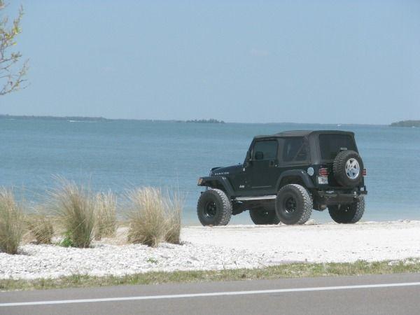 Jeep On The Sanibel Causeway Beach As Seen Best Florida Beaches