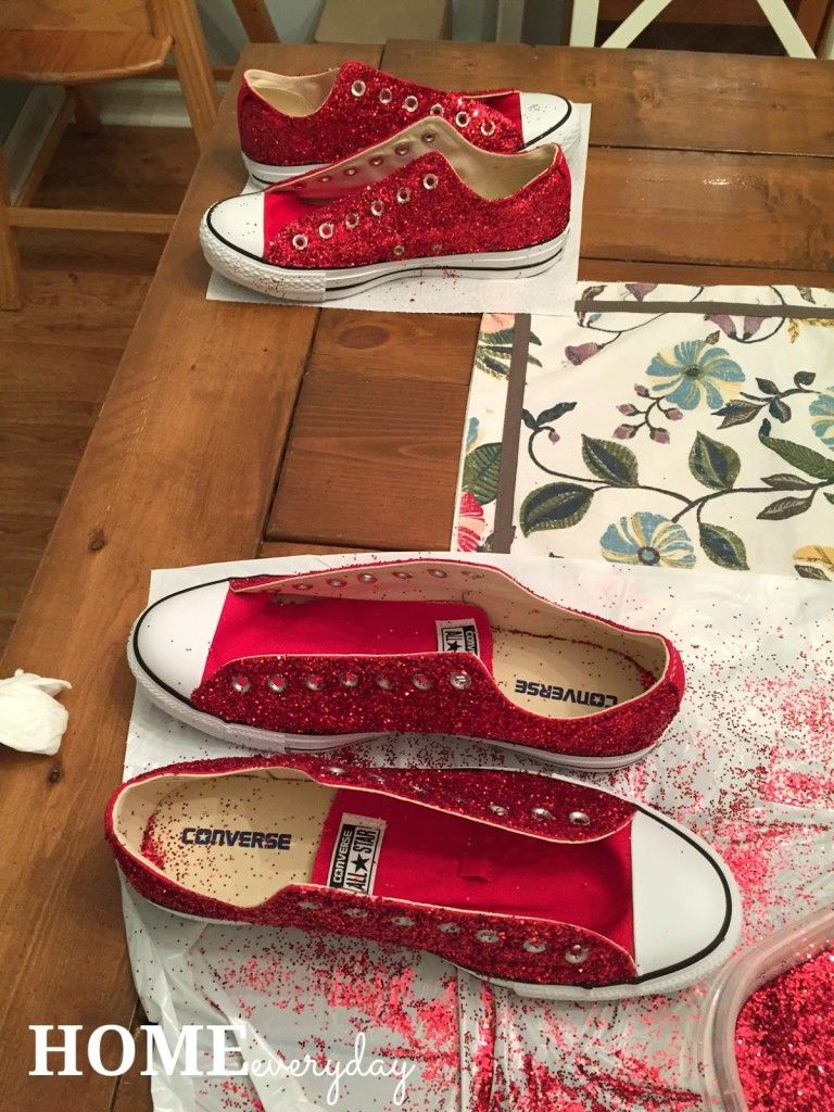 DIY Glitter Converse All Stars or There's No Place Like Home