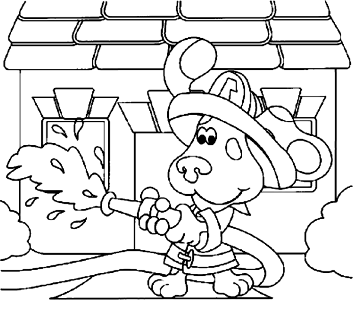 Blues Clues Become A Firefighter   Blue\'s clues Coloring Pages ...