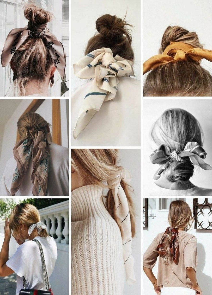 12 Quick And Easy Fall Hairstyles Scarf Hairstyles Thick Hair Styles Short Hair Styles