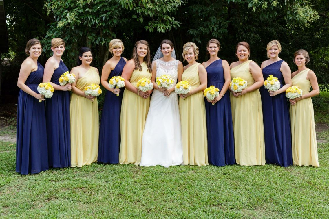 Yellow and navy bridesmaids dresses murchison wedding erin costa yellow and navy bridesmaids dresses murchison wedding erin costa photography ombrellifo Choice Image