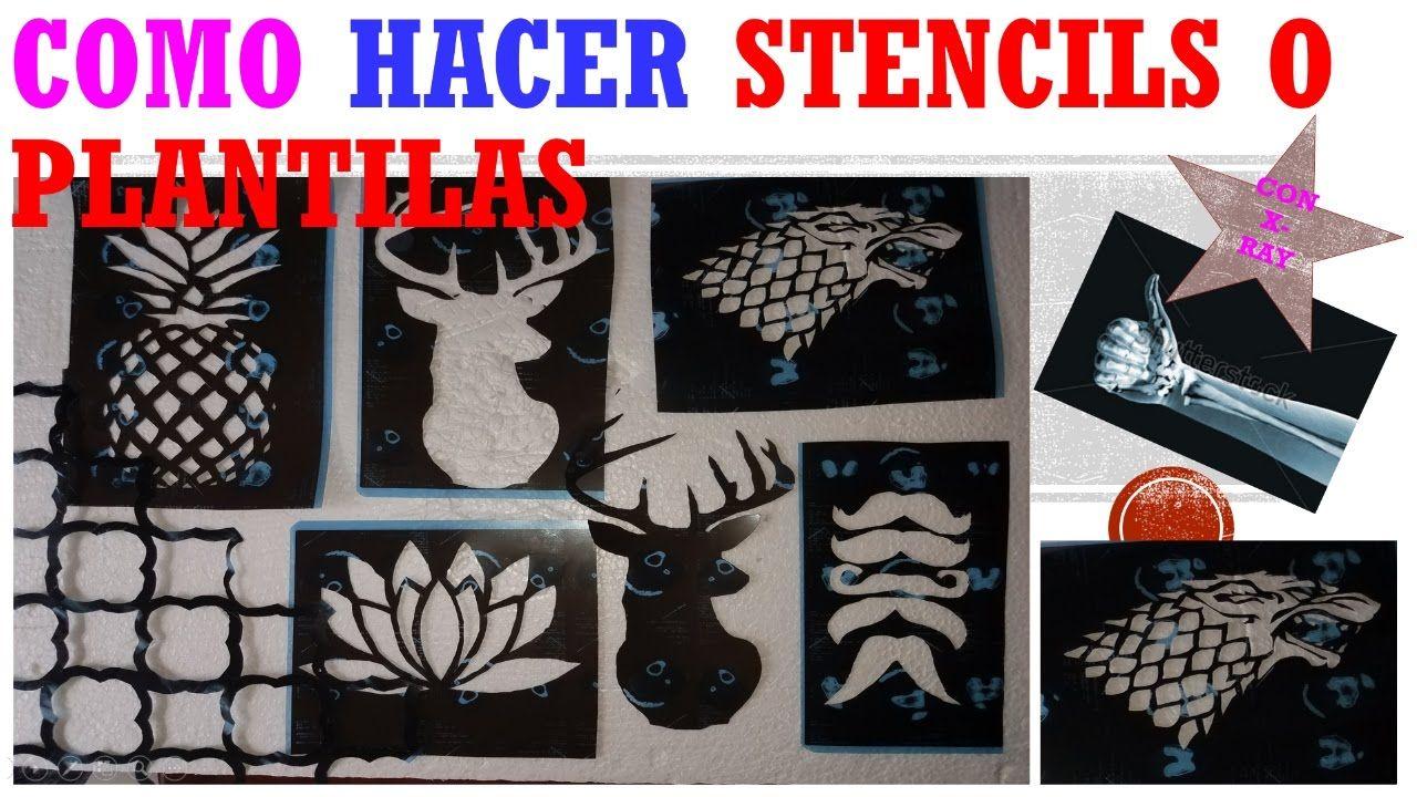 Como Hacer Stencils O Plantillas Con Radiografias Make Your Own Stenci Como Hacer Estencil Manualidades Hacer Stencils