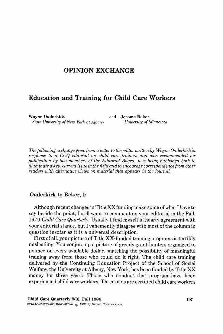 Letter Of Child Care Lovely Child Care