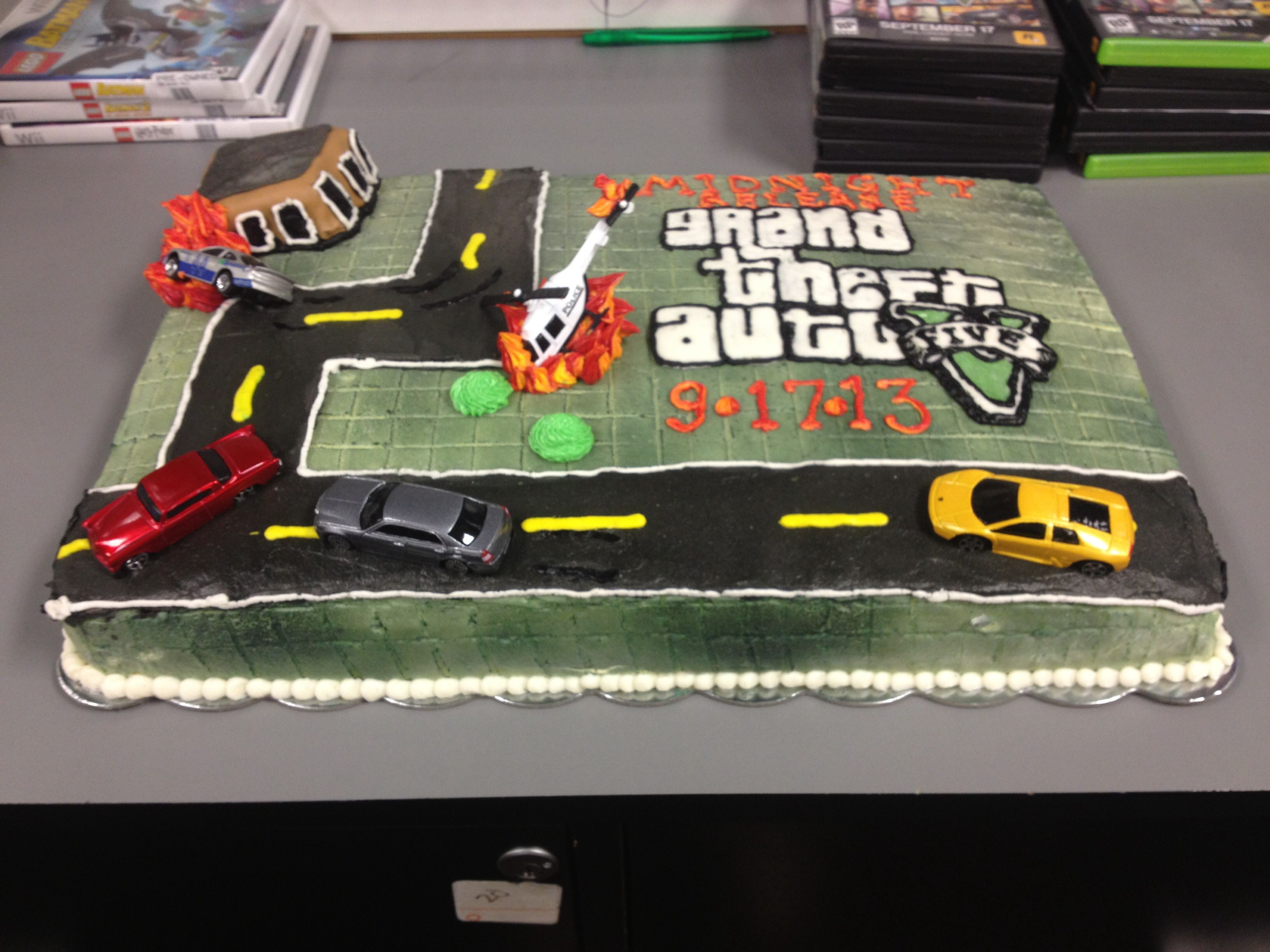 Grand Theft Auto V cake for GameStop | Bake My Day with Candy and ...