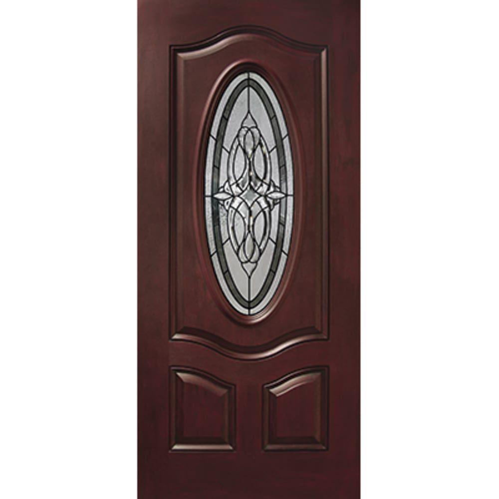 36 Right Hand Prefinished Fiberglass Exterior Door Sku 45320037 Home Outlet In 2020 Fiberglass Exterior Doors Exterior Doors Exterior Doors With Glass