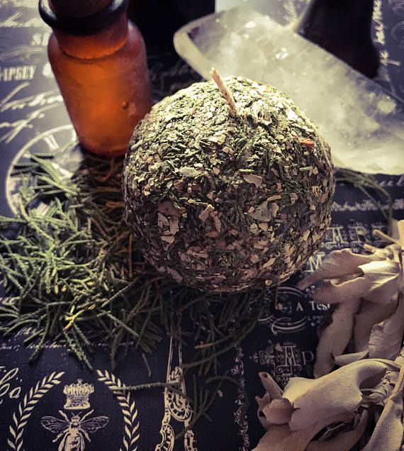 Sacred Smudge Round Candle, Meditation candle, Herb ...