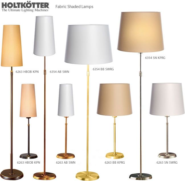 Holtkotter holtkoetter 6263 table lamp 6354 floor lamp contemporary floor lamps and torchieres brand lighting discount lighting call brand lighting