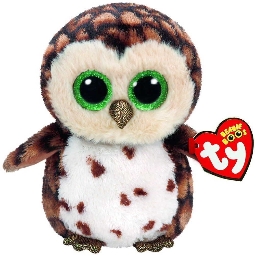 Sammy Brown Owl Beanie Boo Small Stuffed Animal by Ty