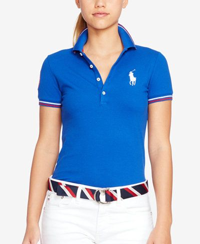 e2c6116a4dc13 Polo Ralph Lauren Team USA Skinny Stretch Polo Shirt  luxestyle  macys   ralphlauren  polo  teamusastyle NEW collection at Macy s