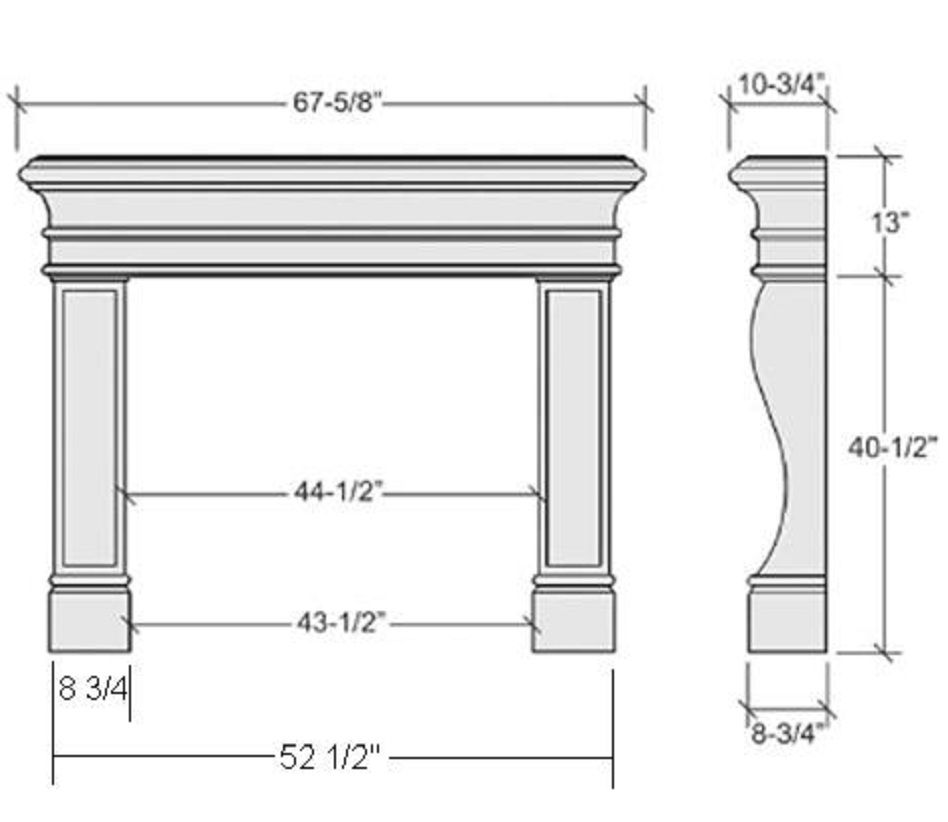 Average Fireplace Dimensions Fireplace Dimensions Fireplace