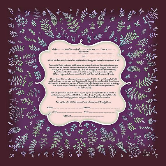 Ketubah Jewish Marriage Certificate Modern Wedding Vows Personalized Anniversary Conservative Traditional Reform Interfaith Humanist