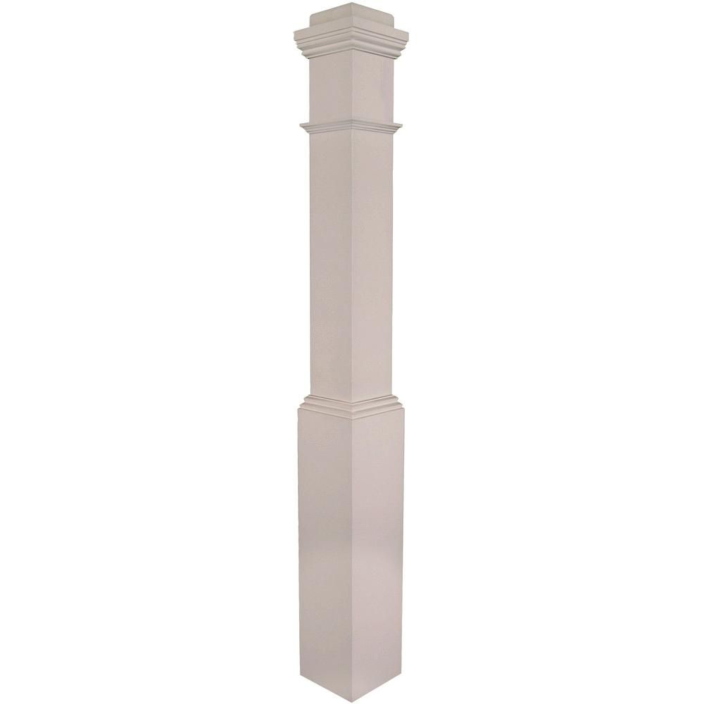 Best Stair Parts 4091 55 In X 6 1 4 In Primed White Box Newel 640 x 480