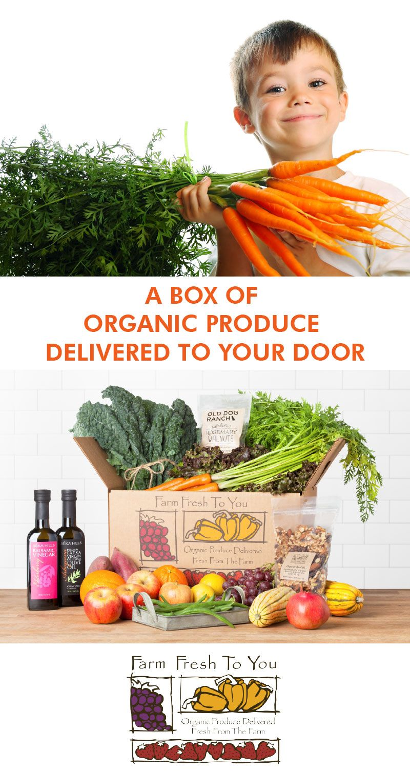 We deliver organic fruits and vegetables fresh from our