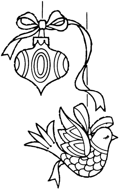 Christmas Ornaments Coloring Pages 1 Free Patterns