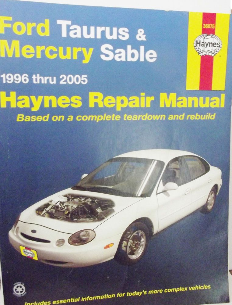 ford taurus mercury sable haynes repair manual 1996 2005 car rh pinterest com 2008 ford taurus haynes manual 2001 ford taurus haynes manual
