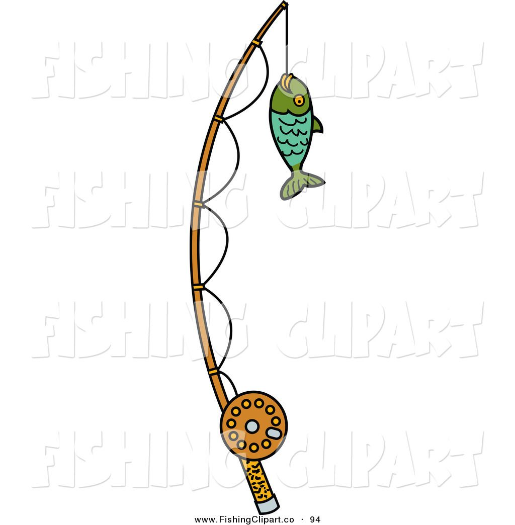 Free Fishing Clipart Clip Art Of A Fish Caught On A Fishing Pole