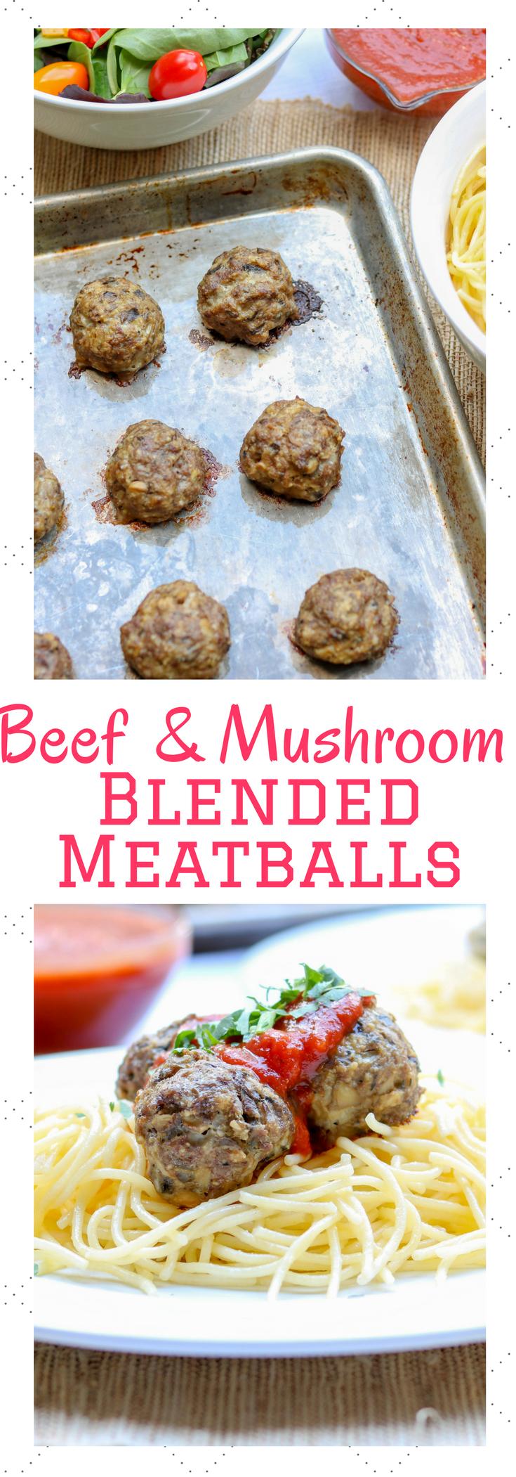5 Ingredient Beef & Mushroom Blended Meatballs ready in 30 minutes #ad #glutenfree #food #healthyrecipes