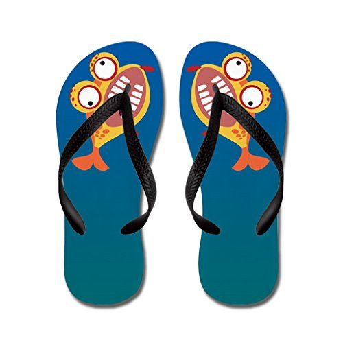 8c270b3a7 Poppylife Cute Crazy Fish Flip Flops Adults M Blue    To view further for  this item