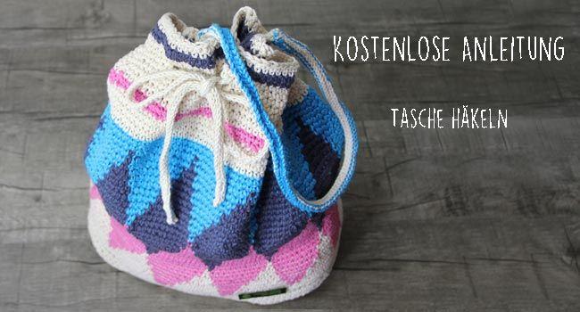 Kostenlose Anleitung Schicke Häkeltasche In Der Technik Tapestry