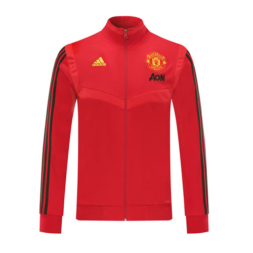 19 20 Manchester United Red High Neck Collar Training Jacket Cheap Soccer Jerseys Shop Minejerseys Cn In 2020 Manchester United Hoodie Soccer Jersey Premier League