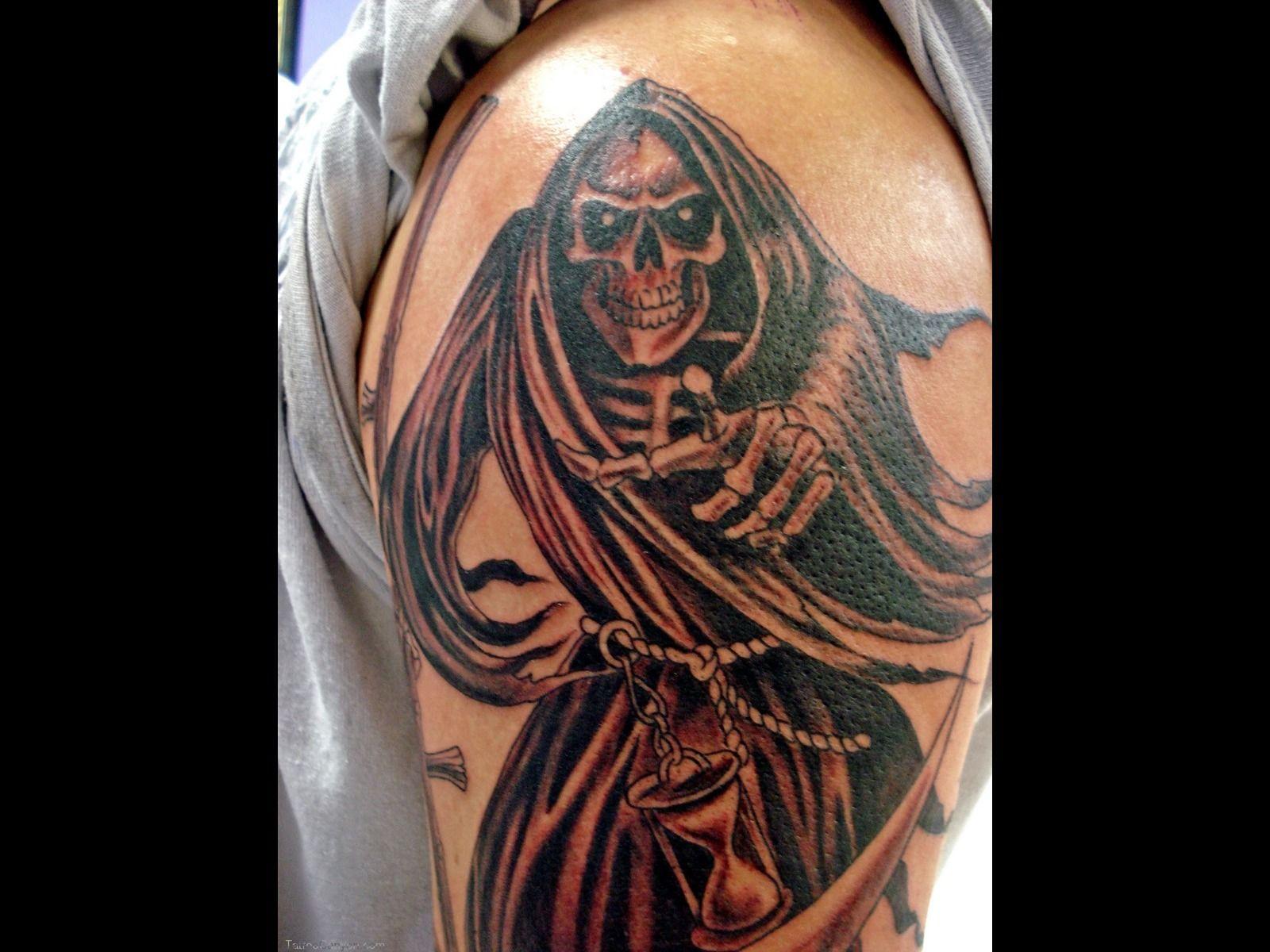 grim reaper tattoo   art: horror - the grim reaper   pinterest