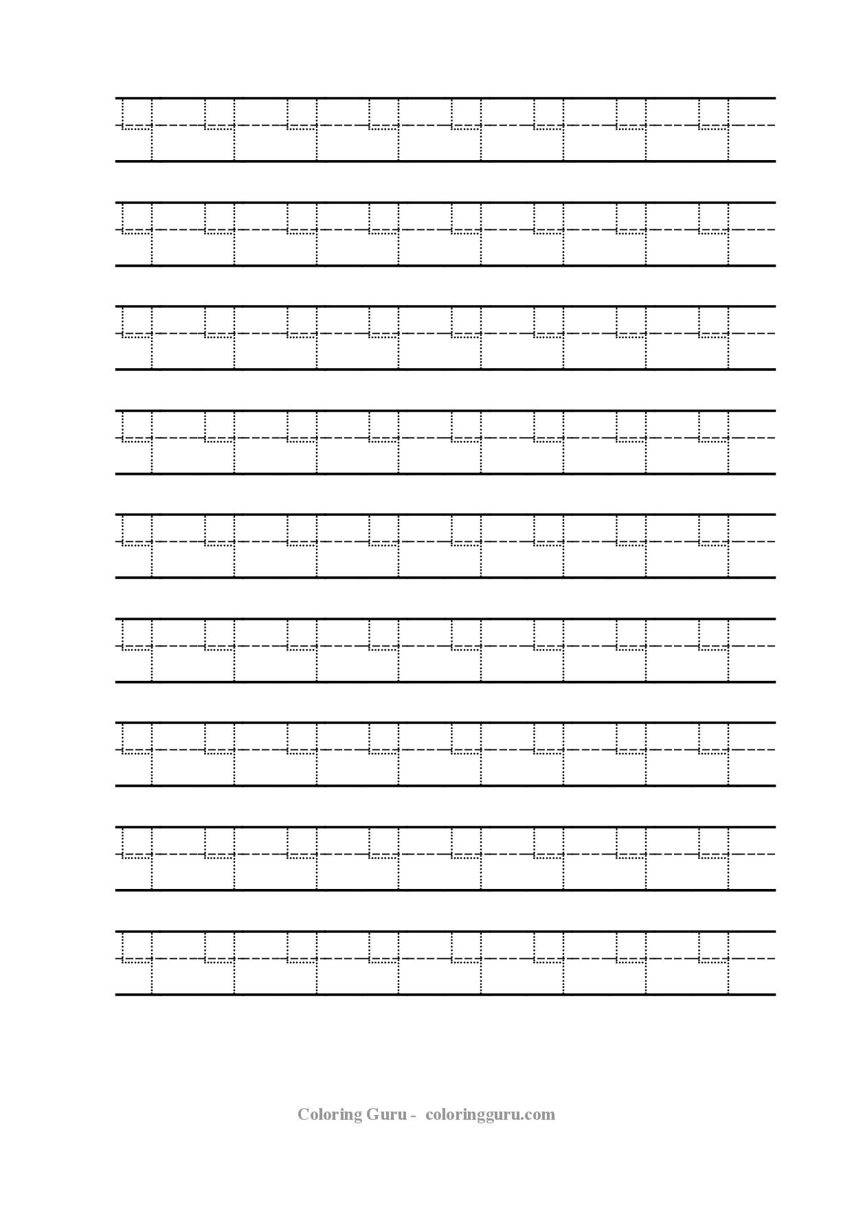 Free Printable Tracing Number 4 Worksheets