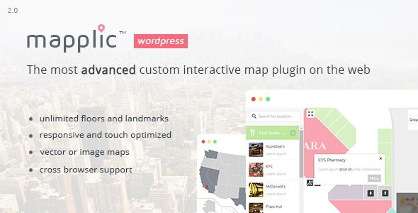 Mapplic Custom Interactive Map WordPress Plugin