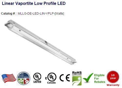 31w Led Vapor Proof Fixture 3140 Lumens Replaces 150w Metal Halide Led