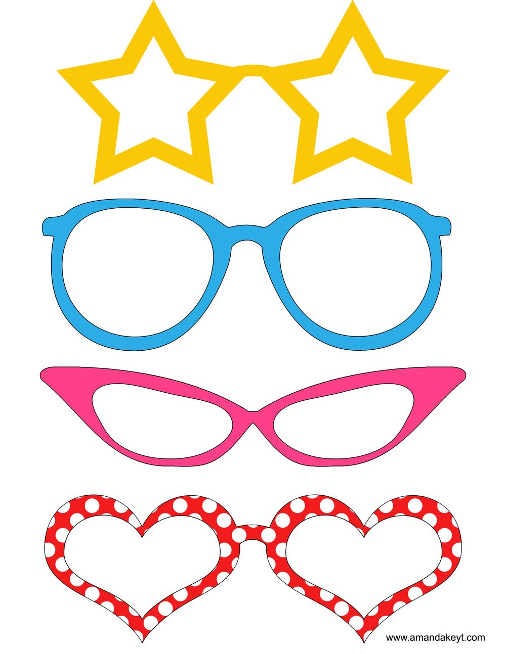 Glasses from mickey mouse friends inspired printable photo booth glasses from mickey mouse friends inspired printable photo booth prop set 2 solutioingenieria Images