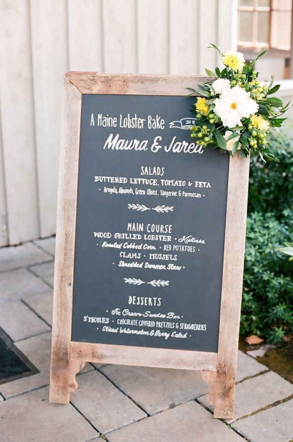 A Maine lobster bake: http://www.stylemepretty.com/maine-weddings/2015/11/27/laid-back-farm-wedding-on-maines-coast-2/   Photography: Ruth Eileen -http://rutheileenphotography.com/