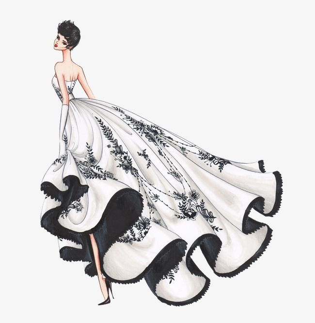 Photo of Beautiful Wedding Dress Design Illustration