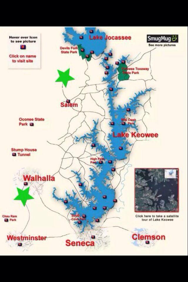 map of lake keowee Lake Keowee Lake Jocassee Lake Keowee Lake Keowee South map of lake keowee