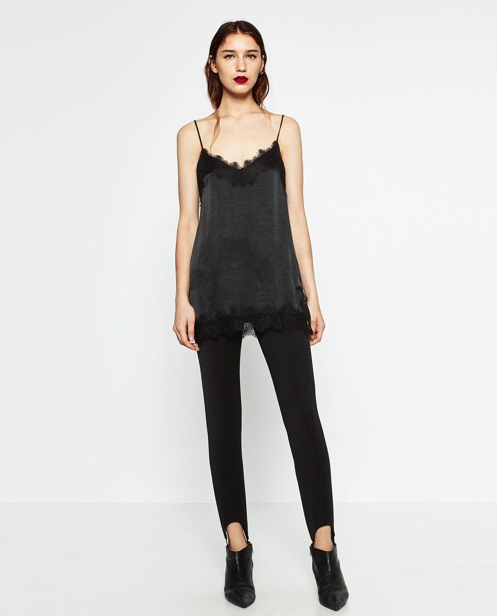 nueva productos calientes descuento de venta caliente buscar autorización Zara Camisole Top $50 | Closet | Lenceros, Camisas y Ropa