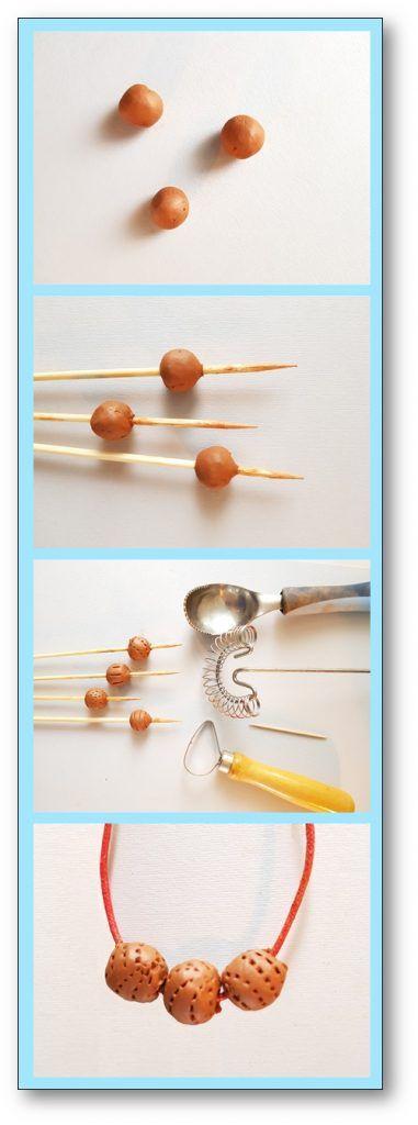 Un collier de perles dargile pour la fête des mères – Fabriquer un collier de perles