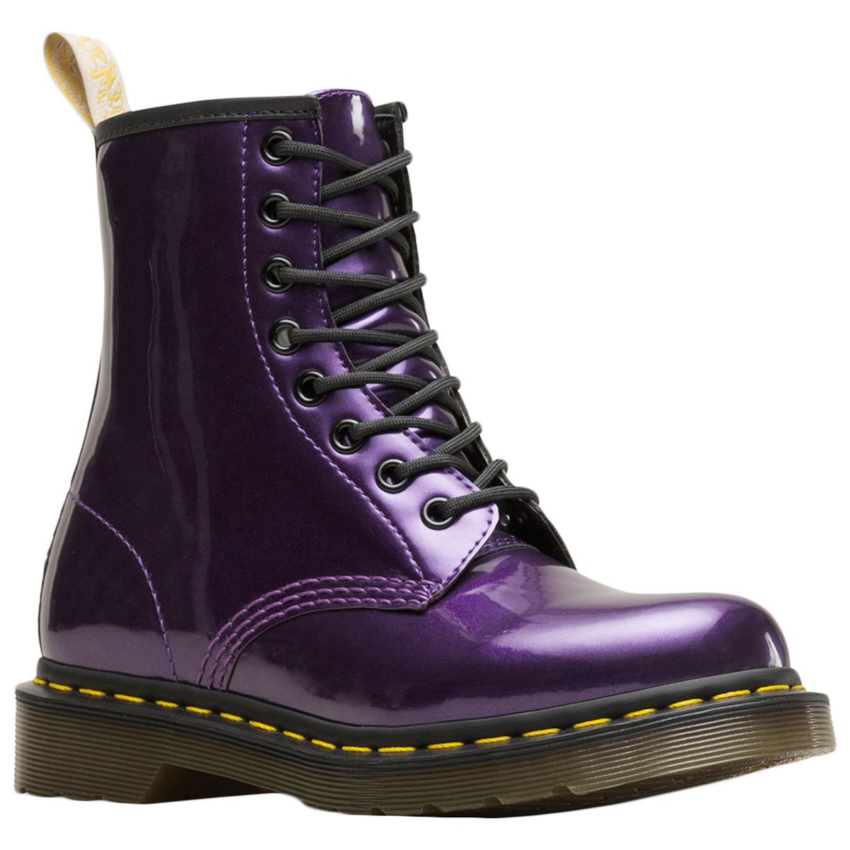 Dr.Martens 1460 Vegan Chrome Synthetic Lace Up Combat Womens