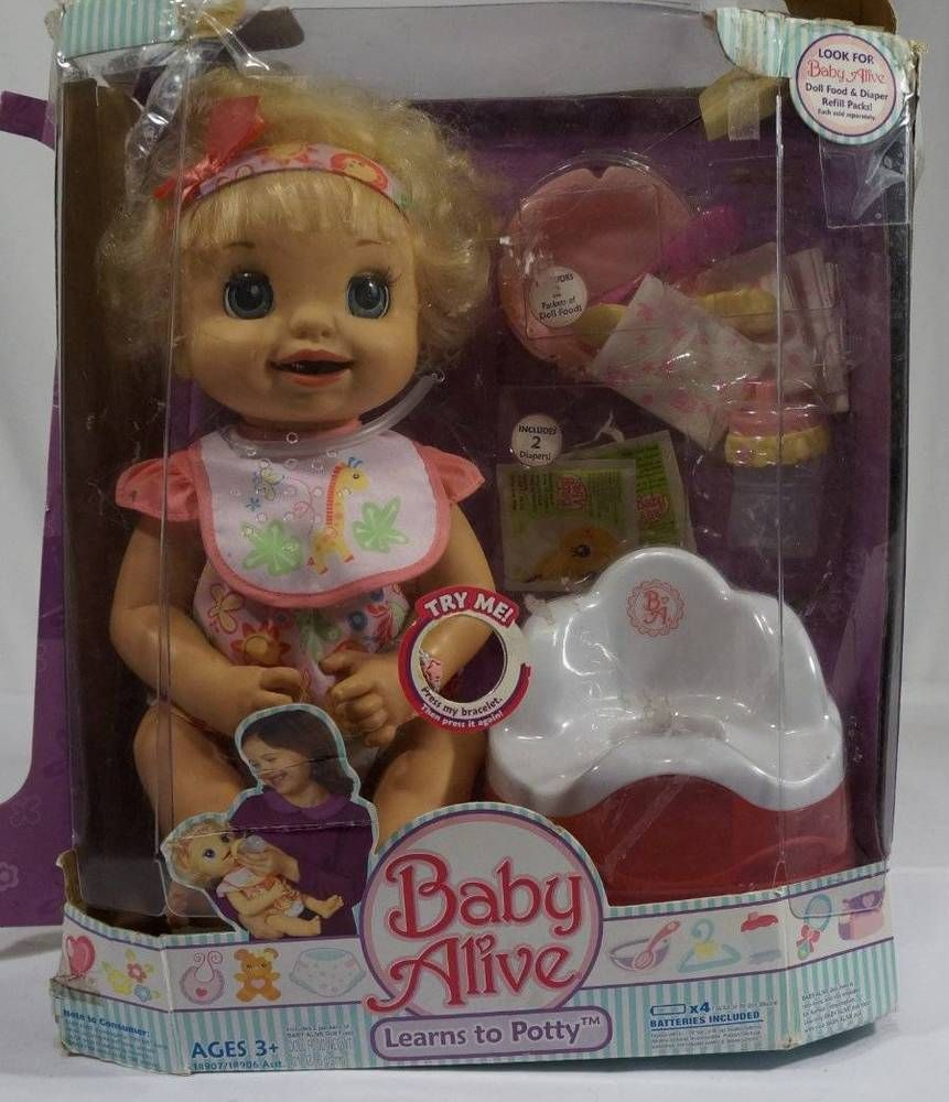 Baby Alive Learns To Potty Hasbro 2007 Talking Doll Caucasian