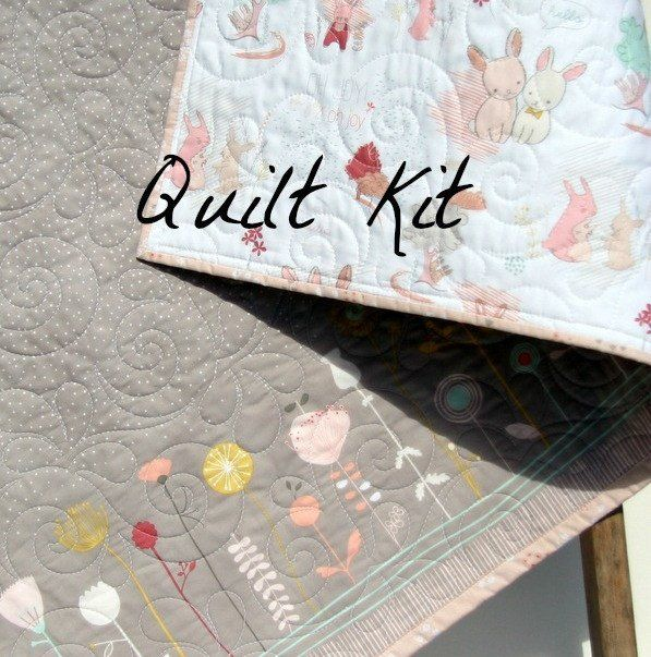 Bunny Quilt Kit, The Littlest Fabrics, Wholecloth Quilt Kit ... : beginning quilting kits - Adamdwight.com