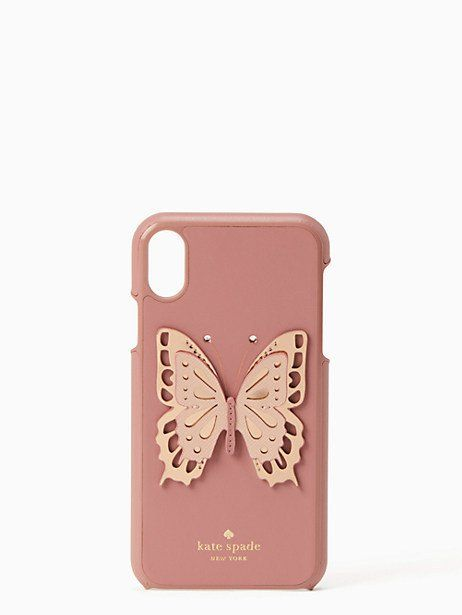 competitive price 1a5dd d00ee Kate Spade Butterfly Applique Iphone Xr Case, Dusty Peony | Products ...