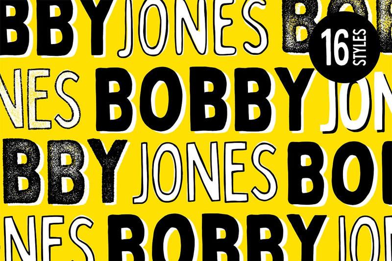 Download Bobby Jones - 16 Fonts in 2020   Font packs, Vintage fonts ...