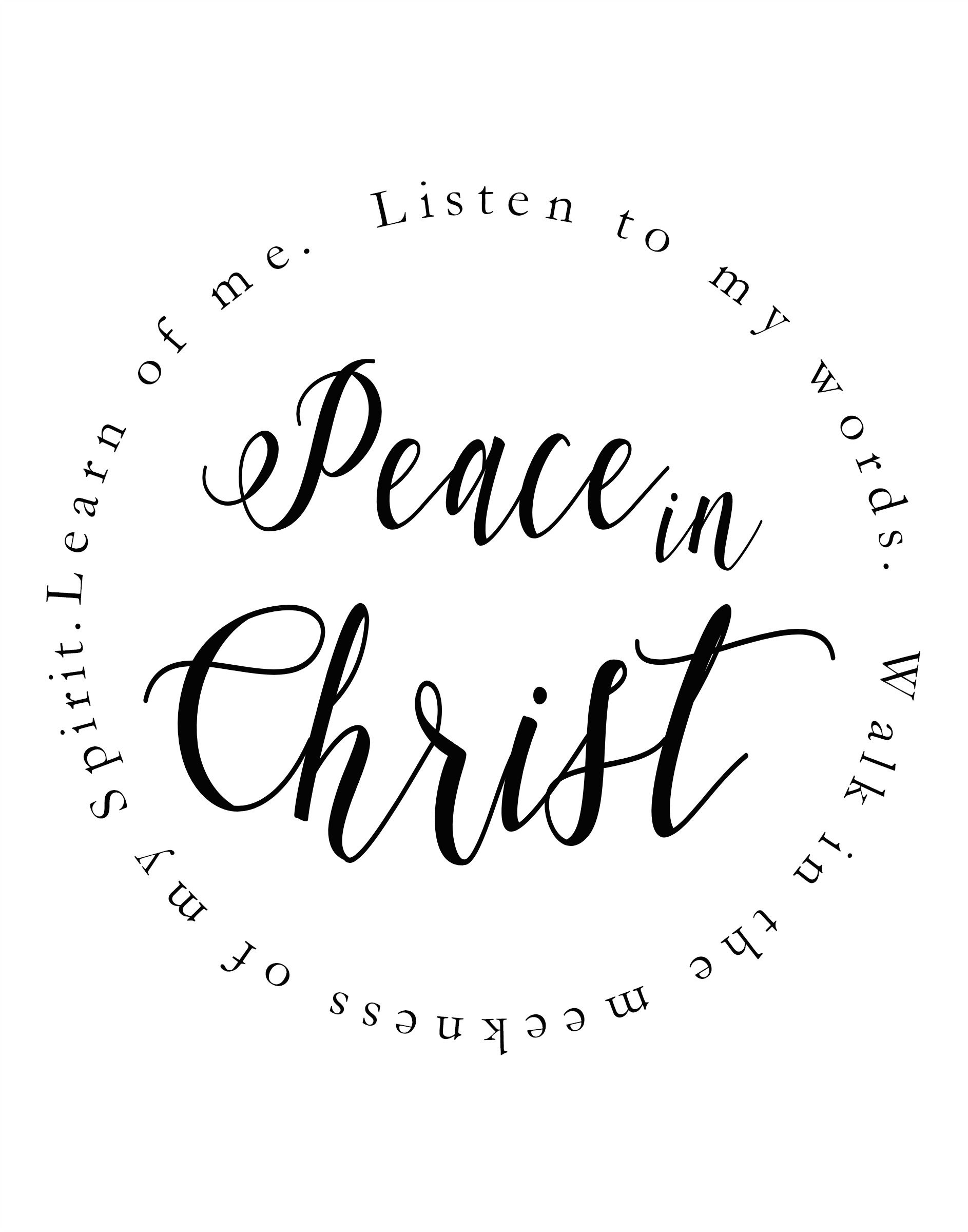 Peace In Christ Poster Doctrine And Covenants 1923 Lds Youth