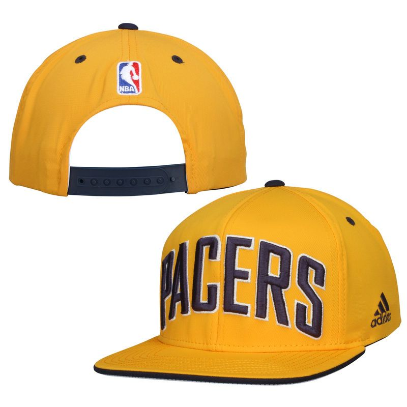 purchase cheap 6deb1 c60d7 Indiana Pacers adidas NBA Team Nation Snapback Hat – Gold