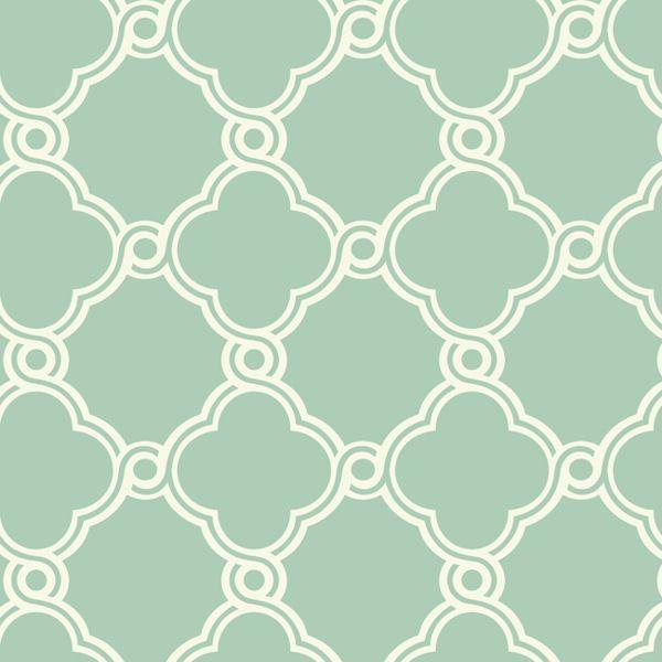 White With Green Open Trellis Wallpaper Wall Sticker Outlet Trellis Wallpaper Geometric Pattern Wallpaper Transitional Wallpaper Green and white wallpaper for walls