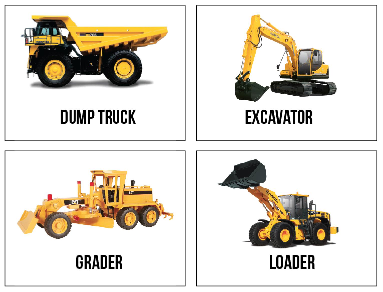 Wyatt Bedroom Set Free Printable Construction Truck Flashcards Because I
