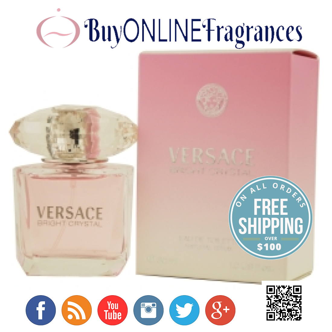 Pin By Buy Online Fragrances On Perfumes Perfume Versace Bright