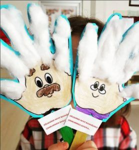 Handprint crafts for kids #grandparentsdaycrafts