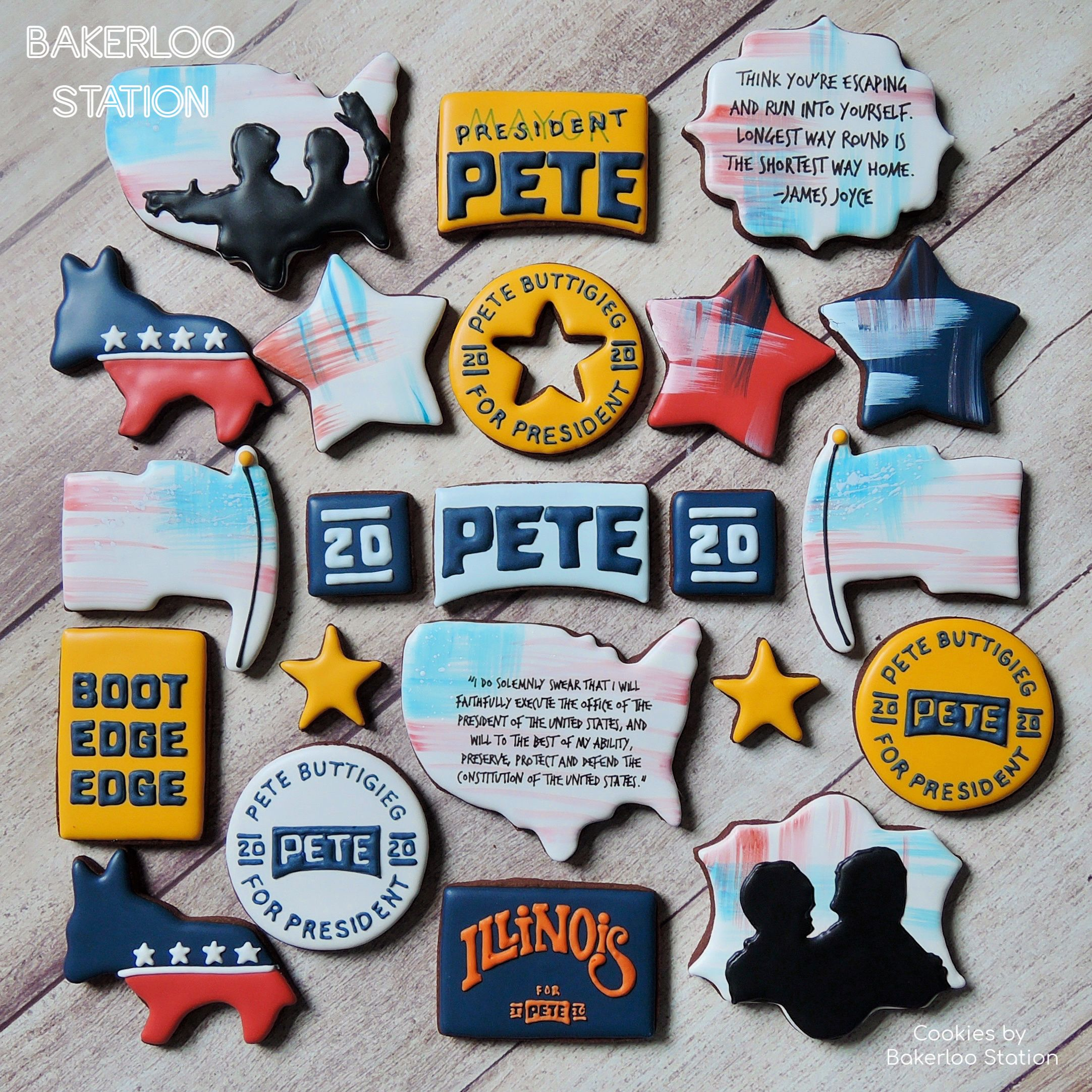 Cookies Made For And Given To 2020 Presidential Candidate Pete Buttigieg By Bakerloo Station Cookies Pete Aiga