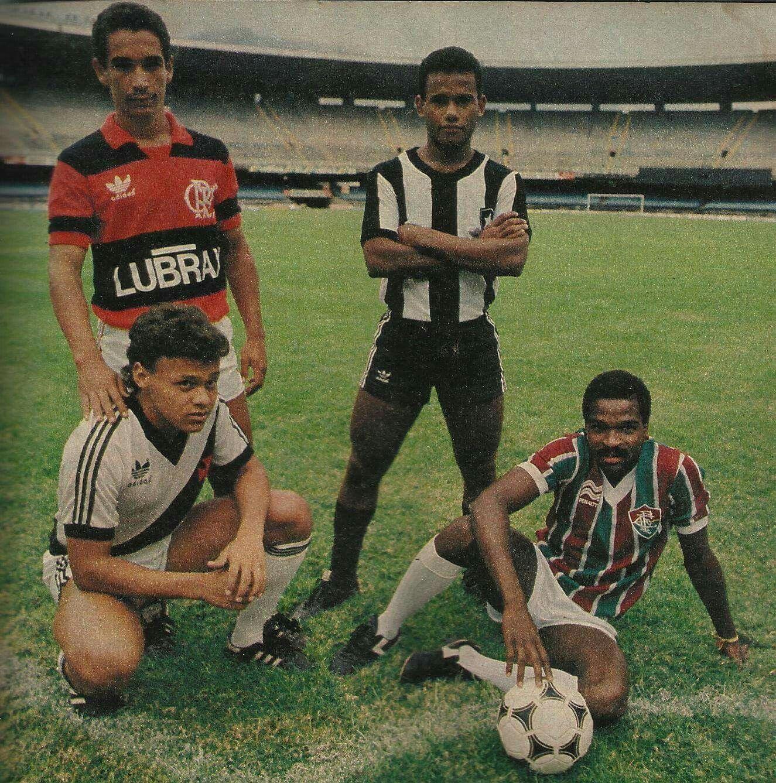 Zinho do Flamengo, César do Botafogo, William do Vasco e Walbert do Fluminense - 1986