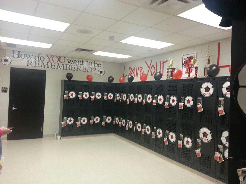 High School Locker Room Using Cricut Soccer Balls Jv Has