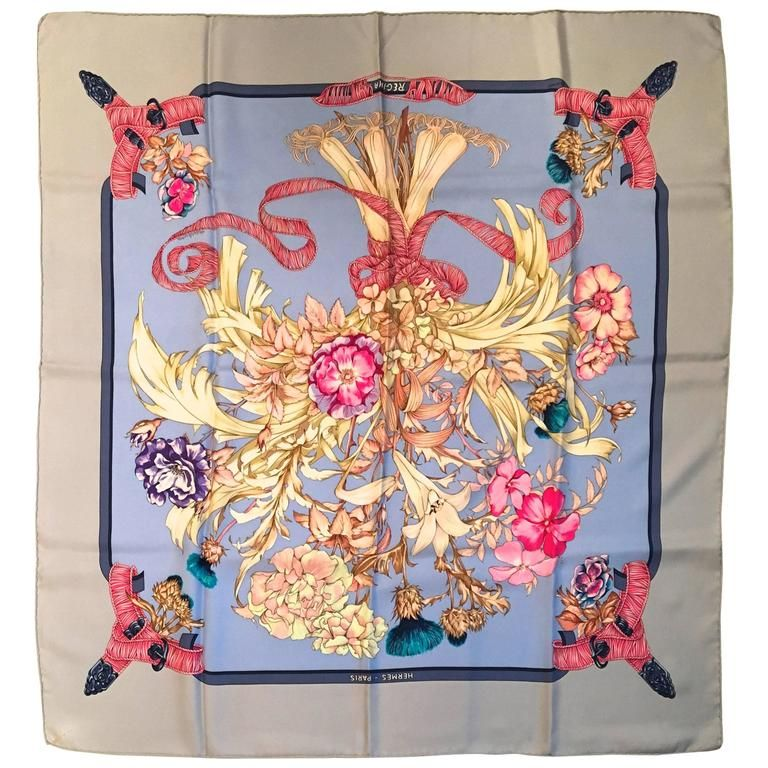 Rare Vintage Hermes Silk Scarf